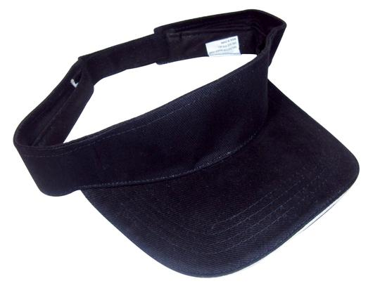 Other Visor Sandwich Style 100% Woven Cotton, One Size Fits All - Black.