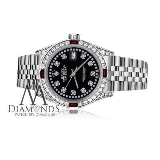 Rolex Women's Rolex 31mm Datejust String Accent Dial Ruby Diamond
