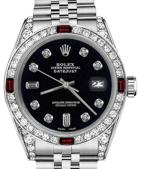 Preload https://img-static.tradesy.com/item/17823355/rolex-ladies-26mm-datejust-black-color-dial-with-ruby-and-82-diamond-watch-0-1-540-540.jpg