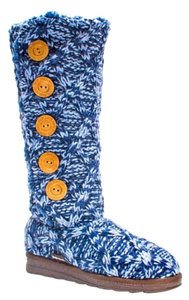 Muk Luks Blue White Multi Boots