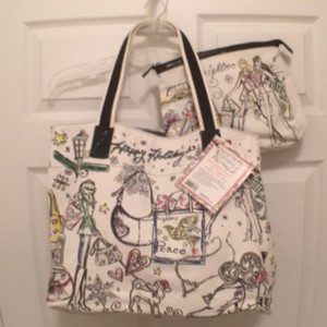Brighton Cosmetic New/nwt Travel/weekend Canvas Beach Tote in Multi