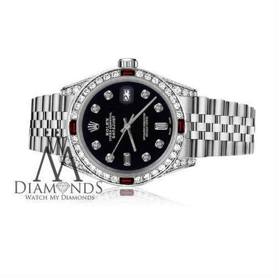 Rolex Rolex 36mm Datejust Black Color Dial with Ruby & 8+2 Diamond Accent