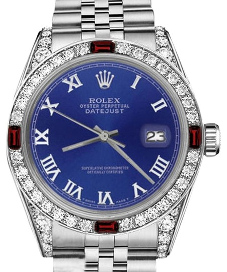 Preload https://img-static.tradesy.com/item/17823562/rolex-ladies-26mm-datejust-blue-color-roman-numeral-dial-ruby-and-watch-0-1-540-540.jpg