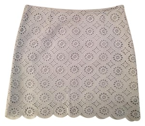BB Dakota Eyelet Jack By Preppy Mini Skirt Blue