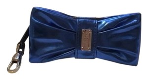 Moschino Cheap Chic Bow Preppy Vintage Wristlet in Blue