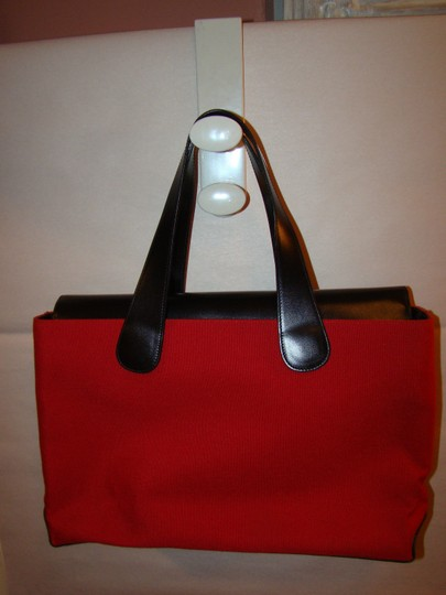 T. Anthony Ltd. Tote in red & black Image 2