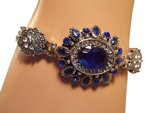 Other Bohemain Silver Plated Blue Sapphire Fashion Bracelet