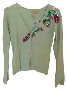 Other Cashmere 100% Cashmere Sequin Vintage Floral Sweater