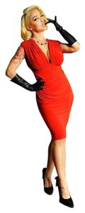 Laura Byrnes Retro Wiggle Ruched Spanx Dress
