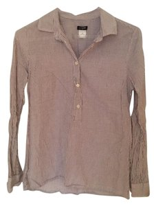 J.Crew Striped Office Nwot Button Down Shirt Purple