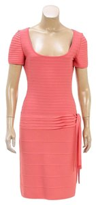 Herv Leger short dress Coral on Tradesy