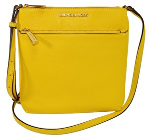 Michael Kors Mk Leather Riley Cross Body Bag