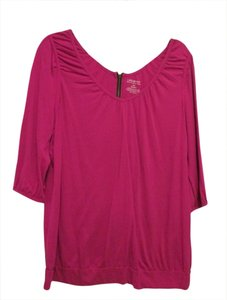 Lane Bryant Zipper 14/16 Top Pink