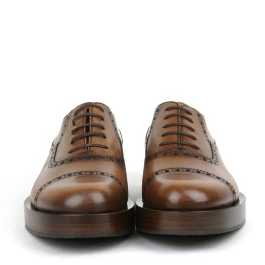 Gucci Brown2218 Mens Leather Platform Lace-up Oxford 353028 8/Us 9 Shoes