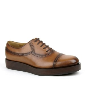 Gucci Brown2218 Mens Leather Platform Lace-up Oxford 353028 8.5/Us 9.5 Shoes