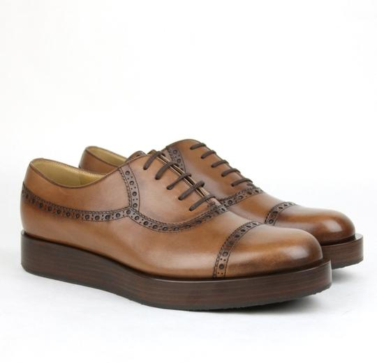 Gucci Brown2218 Mens Leather Platform Lace-up Oxford 353028 10.5/Us 11.5 Shoes