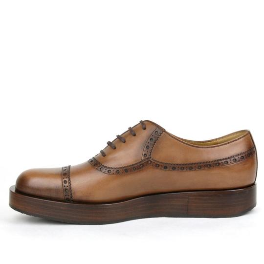 Gucci Brown2218 Mens Leather Platform Lace-up Oxford 353028 12/Us 13 Shoes