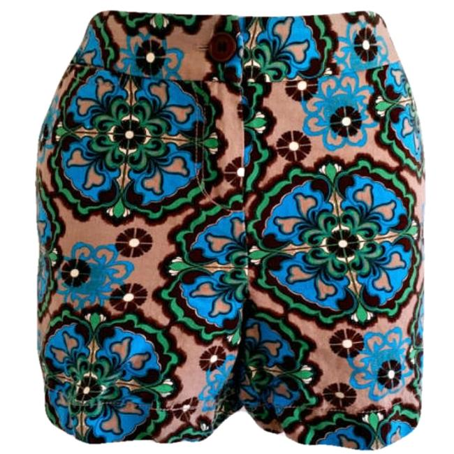 Preload https://img-static.tradesy.com/item/17824627/1-madison-blue-linen-print-green-boho-bohemian-bold-printed-patterned-shorts-size-6-s-28-0-4-650-650.jpg