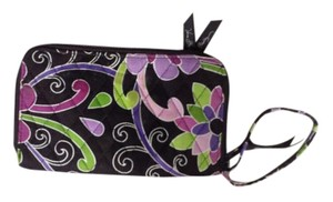 Vera Bradley Wristlet in Purple, pink, green and brown