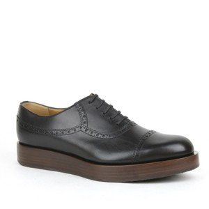 Gucci Black1000 Mens Leather Platform Lace-up Oxford 353028 8/Us 9 Shoes