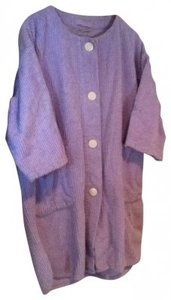 intimate moods Vintage Purple Cozy Chenille Robe Swim Cover with Buttons and Pockets
