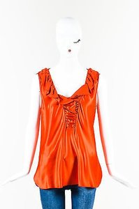 Nina Ricci Silk Blend Top Red