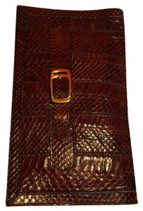 Other Snakeskin Brown Clutch