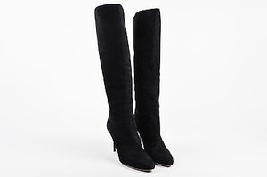 Jimmy Choo Suede Grand Black Boots