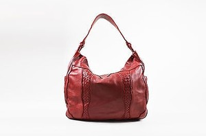 Bottega Veneta Leather Woven Trim Oversized Tote Hobo Bag