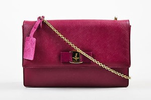 Salvatore Ferragamo Berry Saffiano Leather Ginny Shoulder Bag