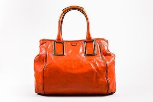 Chloé Chloe Ladybird Leather Gold Tone Ethel Handbag Satchel in Orange