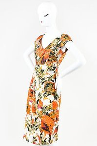 ERDEM Orange Cream Multicolor Dress