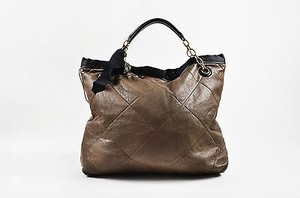 Lanvin Quilted Leather Tote in Brown