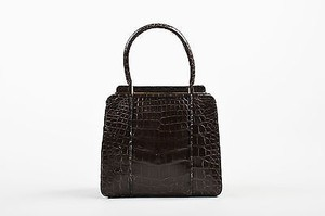 Judith Leiber Alligator Tote in Gray