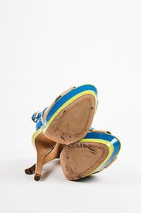 Dior Christian Teal Green Multi-Color Sandals