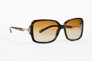 Tiffany & Co. Tiffany Co. Brown Tortoise Crystal Embellished Square Frame Sunglasses
