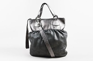 Max Mara Tone Metallic Suede Leather Hobo Bag