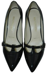 Bruno Magli Patent Buckle Black Pumps