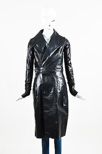 Rick Owens Leather Salon Trench Trench Coat