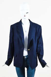 Escada Navy Gold Tone Blue Jacket