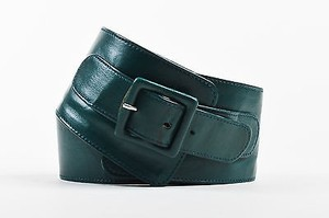 Thierry Mugler Vintage Thierry Mugler Green Leather Buckle Waist Belt