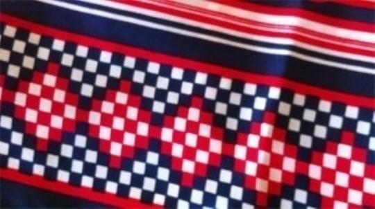 Other Vintage Red White Blue geometric mid-century modern bold scarf patriotic July 4