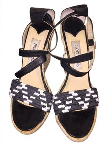 Jimmy Choo Black & White Wedges
