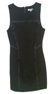 BCBG Leather Short Dress