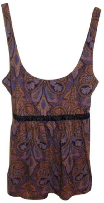 J.Crew Top purple paisley