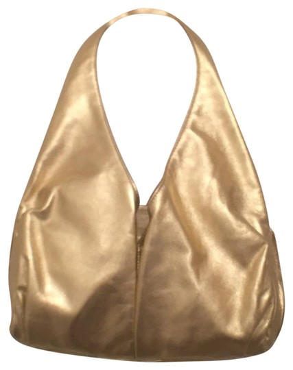 Preload https://img-static.tradesy.com/item/17828347/halston-nwot-gold-leather-shoulder-bag-0-1-540-540.jpg