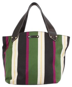 Kate Spade Tote in Brown Green Beige Yellow Magenta
