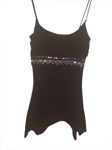Sequin Stretchy Top Black