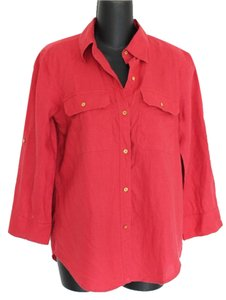 Lauren Ralph Lauren Button Down Shirt Melon