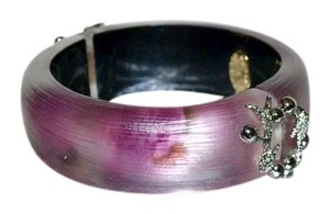Alexis Bittar Alexis Bittar Lucite Allegory Hinged Bangle Bracelet Rose Berry OMBRE